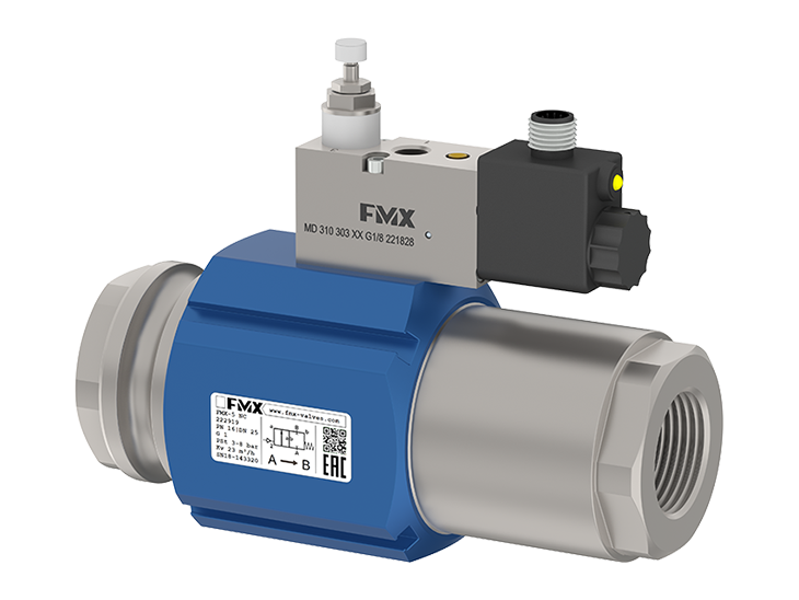 2/2 way coaxial externally controlled valves FMX series