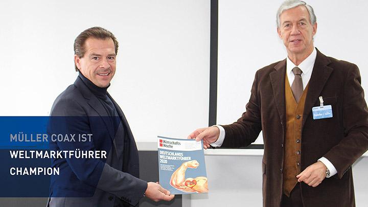 müller coax ist Weltmarktführer Champion