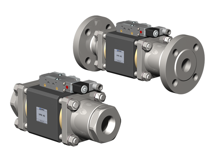 2/2 Way coaxial Externally Controlled Valves